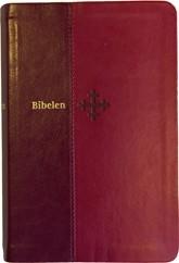 mellomstor-bibel-i-roedt-kunstskinn